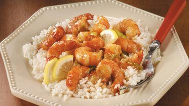 Stir-Fried Lemon-Garlic Shrimp