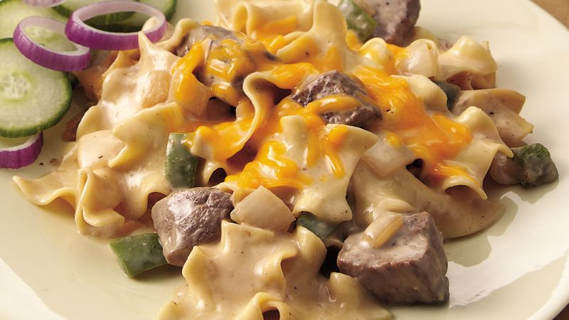 Philly Cheesesteak Casserole