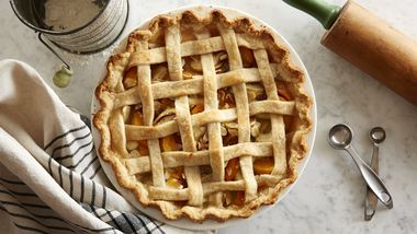 Lattice Peach-Apple Pie