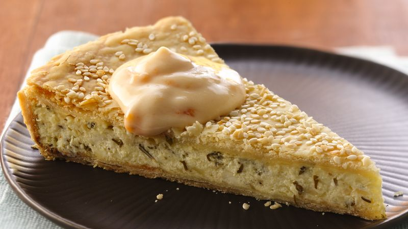 Extreme Cheese Tart with Apricot Cream