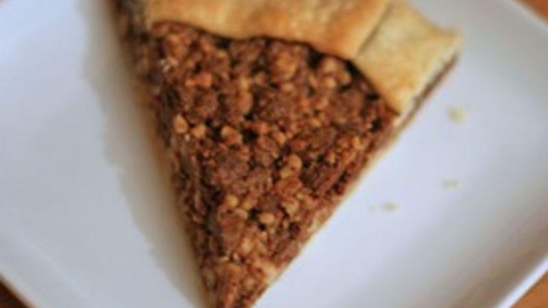 Freeform Chocolate Walnut Pie