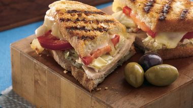 Grilled Turkey Panini Sandwiches