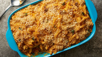 Chicken, Chorizo and Poblano Pasta Bake