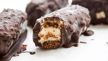 Chocolate-Covered Granola Ice Cream Sandwiches
