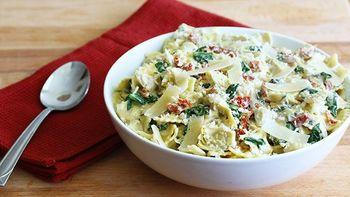 Artichoke Spinach Dip Pasta