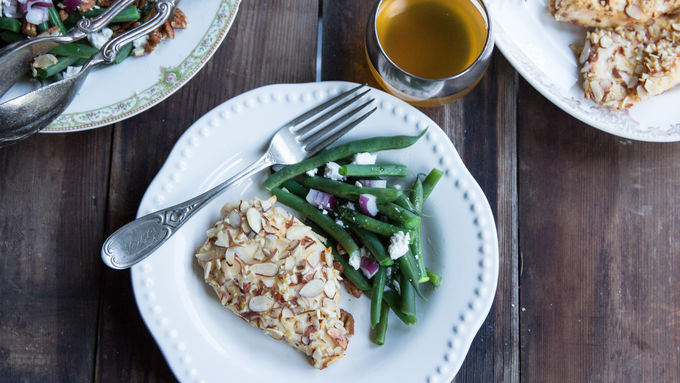 Almond Oven-Fried Chicken