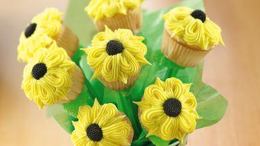 Ramillete de cupcakes de girasoles