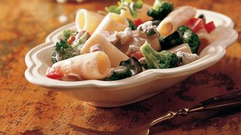 Gorgonzola Rigatoni with Vegetables