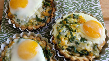 Collard Greens and Egg Tarts