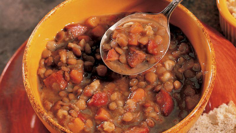 Slow-Cooker Bistro Lentil-Barley Soup