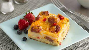 Make Ahead Sausage Potato Egg Bake