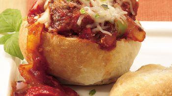 Meatball Sandwich Bread Bowls