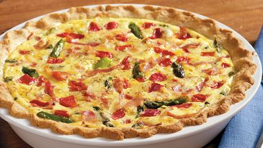 Grilled Asparagus Quiche