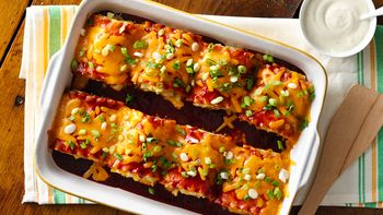 Make-Ahead Cheesy Barbecue Chicken Lasagna Roll-Ups