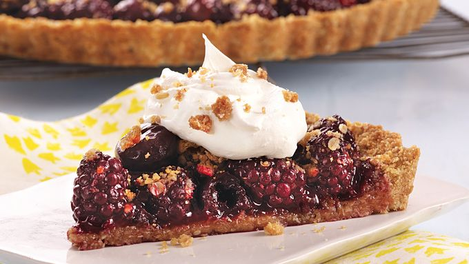 Blackberry Cherry Oatmeal Tart