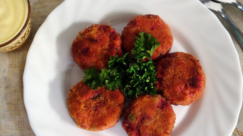 Quinoa Fritters with Aji Amarillo Aioli