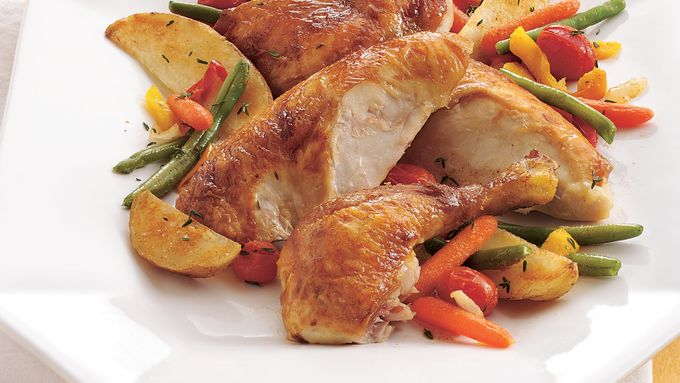 Oven-Roasted Chicken and Vegetables