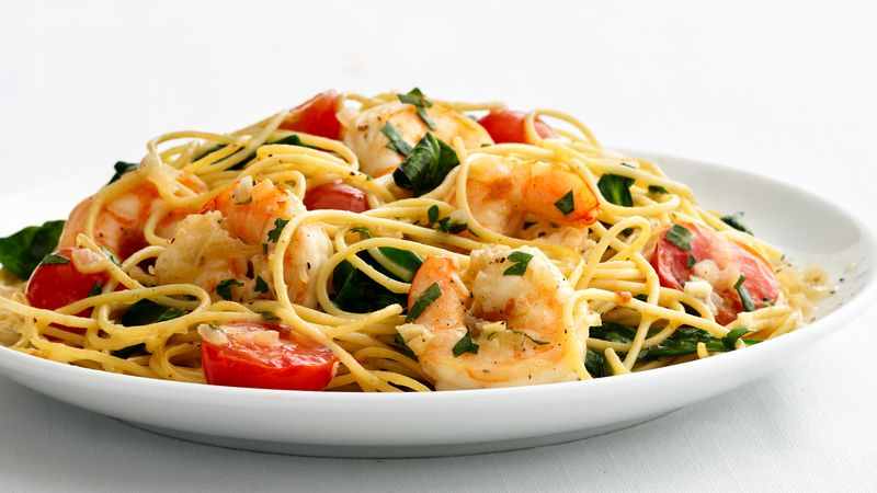 Skinny Garlic Shrimp Pasta Recipe From Betty Crocker