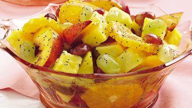 Fresh Fruit with Honey Poppy Seed Dressing