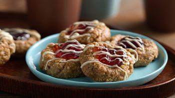 No-Bake Granola Jam Thumbprint Cookies
