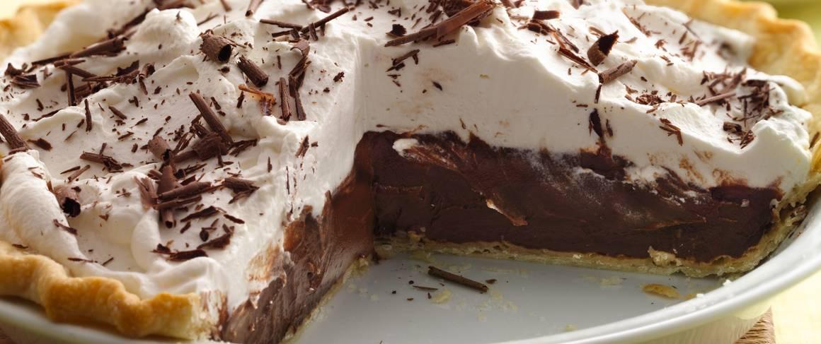Dark Chocolate Stout Cream Pie recipe from Betty Crocker