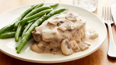 Skinny Smothered Pork Chops