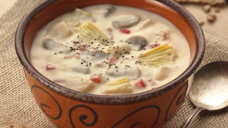 Clam Chowder with Artichokes