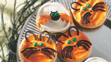 Bat and Cat Cookies