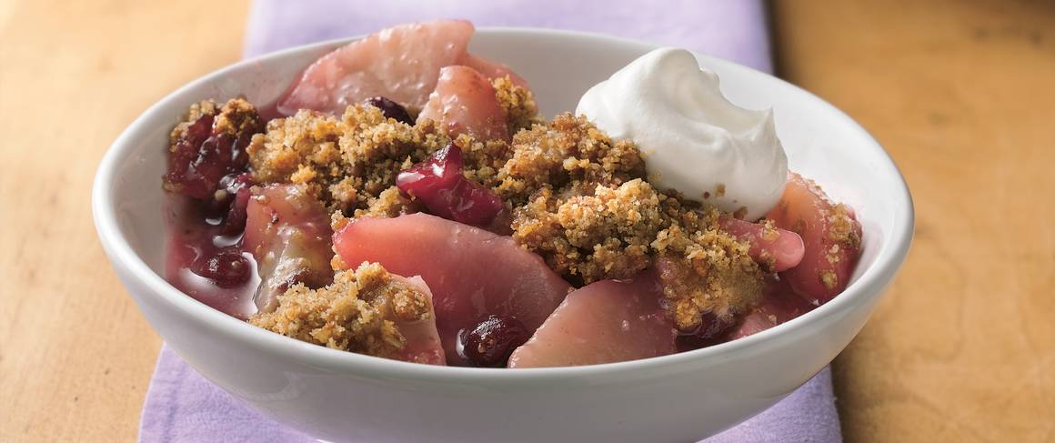 Roasted Almond-Cranberry-Pear Crisp