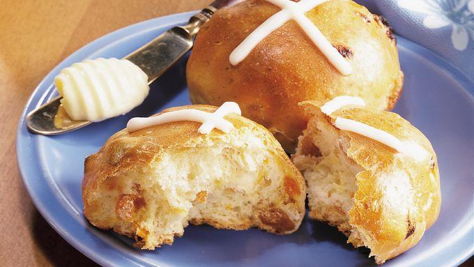 cross buns bread machine recipe