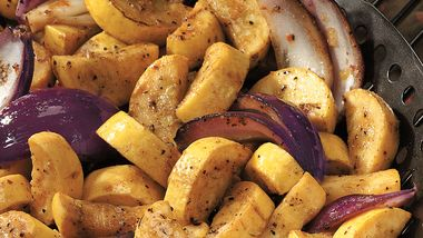 Grilled Summer Squash with Red Onion