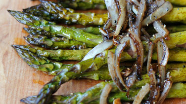 Baked Asparagus with Balsamic Vinaigrette