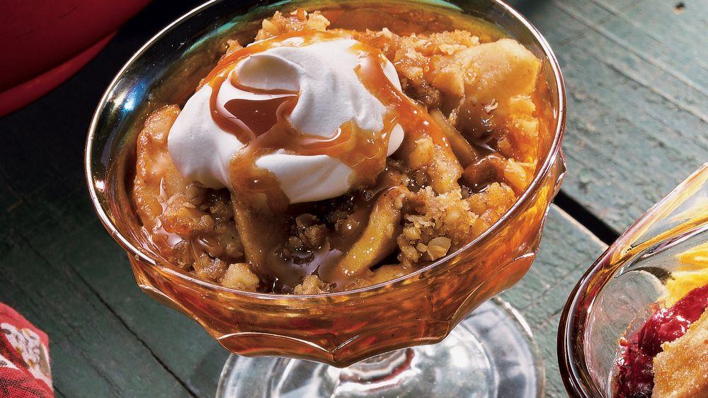 Caramel Apple and Pear Crisp