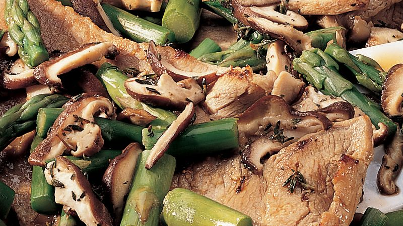 Veal with Asparagus recipe from Betty Crocker
