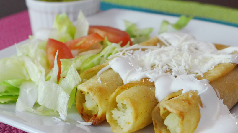 Potato and Cheese Flautas