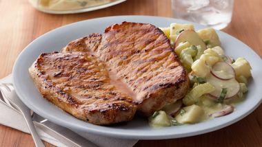 Grilled Honey-Mustard Pork Chops
