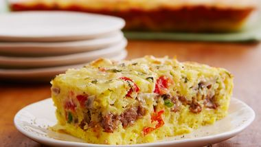 Cheesy Sausage and Egg Bake