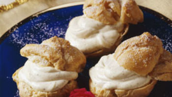 Cream Puffs with Coffee Whipped Cream