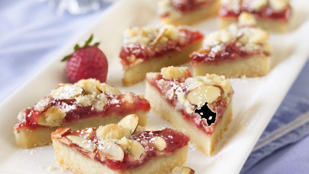 Strawberry-Almond Paste Shortbread Bars