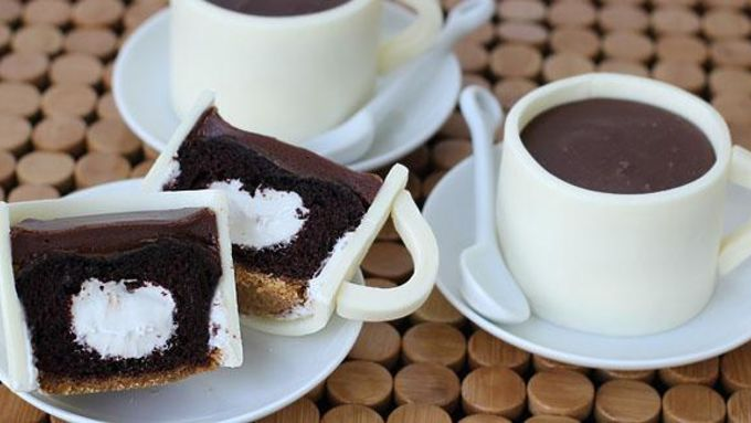 S'mores Coffee Cup Cupcakes