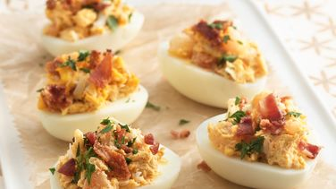 Seafood Deviled Eggs