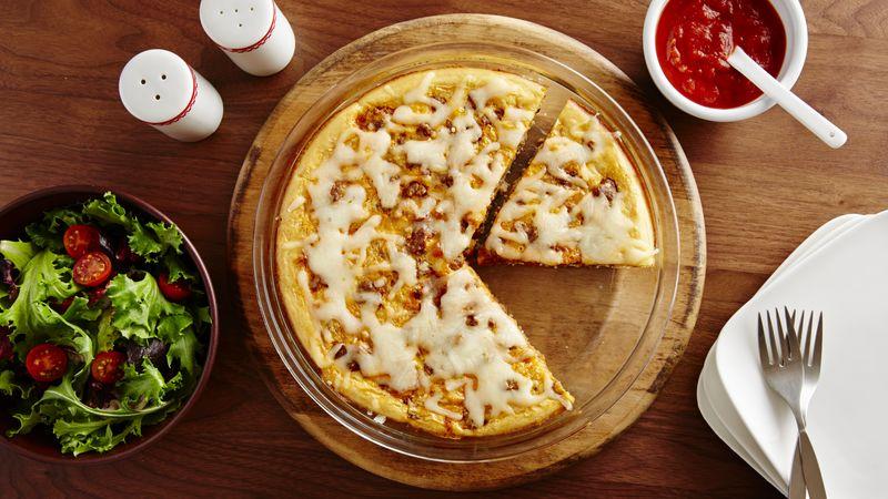 Impossibly Easy Lasagna Pie