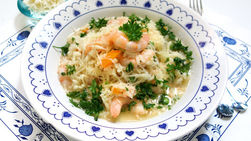 Orange Risotto with Shrimp