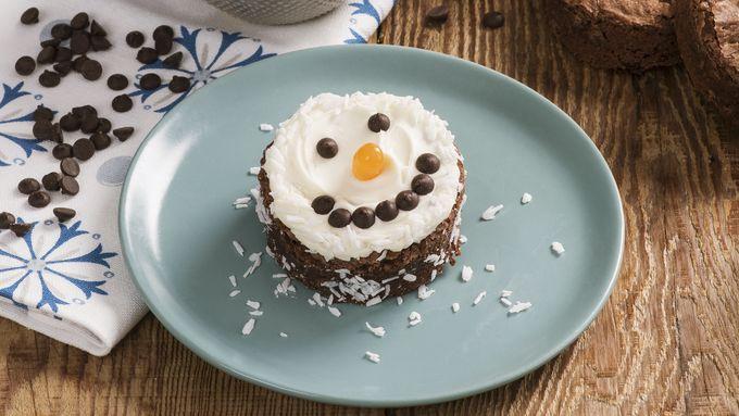 Snowman Brownies
