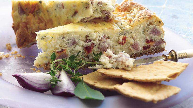 Ham and Swiss Appetizer Cheesecake