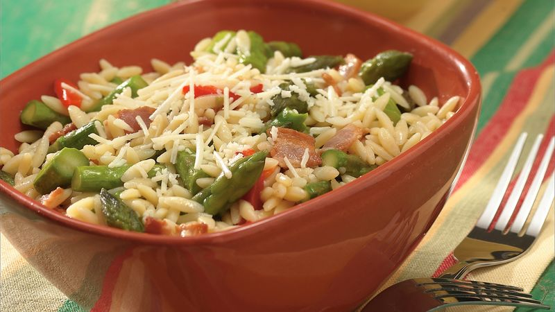 Orzo with Bacon and Asparagus