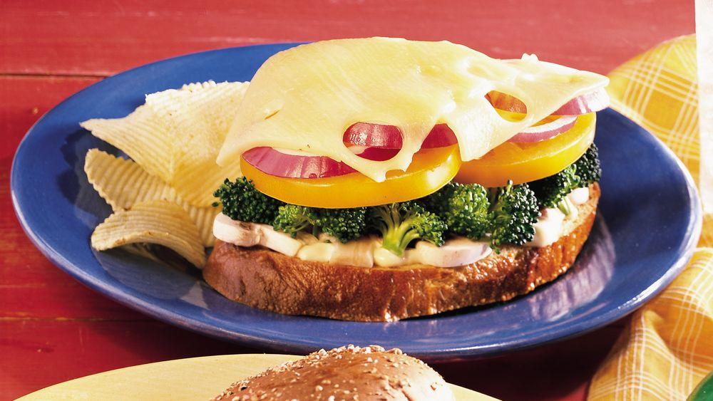 Swiss-Broccoli-Tomato Melts