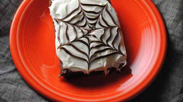 White Chocolate Spiderweb Brownies