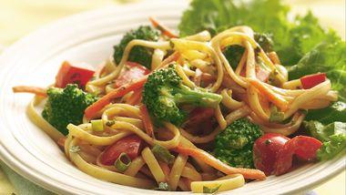 Noodles and Peanut Sauce Salad Bowl