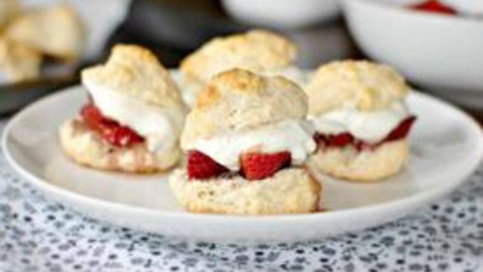 Roasted Balsamic-Strawberry Shortcakes with Vanilla Bean Whipped Cream